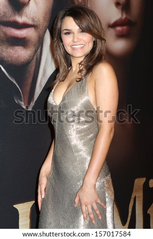 """NEW YORK - DEC 10: Samantha Barks attends the premiere of """"Les Miserables"""" at the Ziegfeld Theatre on December 10, 2012 in New York City. - stock photo"""