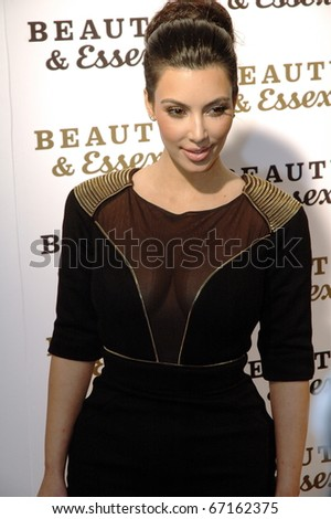 NEW YORK - DECEMBER 10: Kim Kardashian  attends the opening of  Beauty & Essex, new downtown restaurant from Rich Wolf, Peter Kane, and Chris Santos on December 10, 2010 in New York City. - stock photo