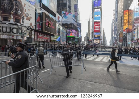 NEW YORK - DECEMBER 31: Preparation for New Year celebration on Times Square in Manhattan on December 31, 2012 in New York City