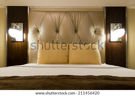 New York - DECEMBER 20: Room in New Yorker Hotel on December 20, 2014 in New York, USA. New Yorker Hotel is one of the oldest hotels in New York - stock photo