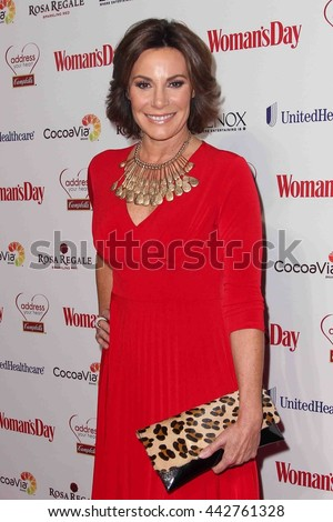 NEW YORK-FEB 10, 2015: TV personality Countess LuAnn de Lesseps attends the 12th Annual Woman's Day Red Dress Awards at Jazz at Lincoln Center on February 10, 2015 in New York City. - stock photo