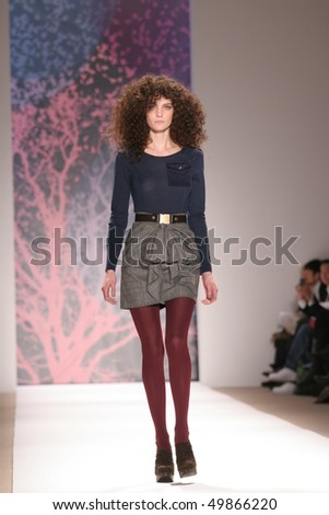 NEW YORK - FEBRUARY 16: A model walks the runway at the TIBI Collection for Fall/Winter 2010 during Mercedes-Benz Fashion Week on February 16, 2010 in New York.