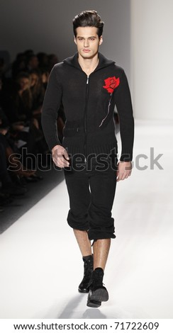 NEW YORK - FEBRUARY 15: A model walks the runway for collection by Sergio Davila at Mercedes-Benz Fall/Winter 2011 Fashion Week on February 15, 2011 in New York City.