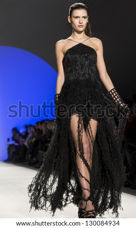 NEW YORK - FEBRUARY 10: Models perform at Joanna Mastroianni Show for Fall/Winter 2013 Collection during Mercedes-Benz Fashion Week on February 10, 2013 in New York