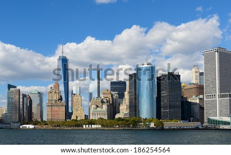 New York Financial District - stock photo