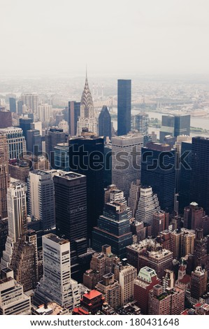 New York from above - stock photo