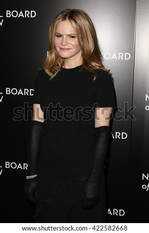 NEW YORK-JAN 5: Actress Jennifer Jason Leigh attends the 2015 National Board of Review Gala at Cipriani 42nd Street on January 5, 2016 in New York City.