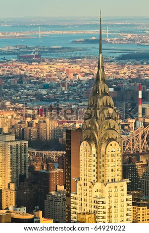 NEW YORK - JAN. 27: Chrysler building facade, pictured on on January 27, 2010 in New York,  was the world's tallest building before it was surpassed by the Empire State Building in 1931. - stock photo