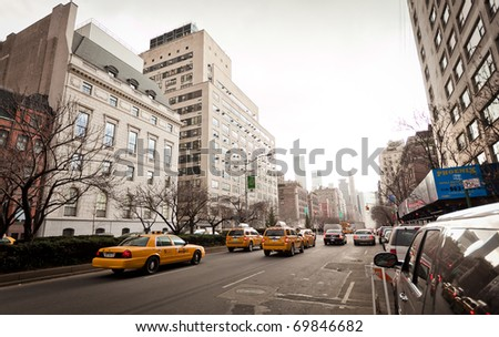 NEW YORK - JAN 6: City streetlife on Madison Avenue where situated one of the most expensive apartments in the city on January 6, 2011 in Manhattan, New York City - stock photo