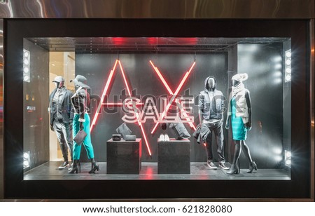 Armani exchange stock images royalty free images for Armani store nyc
