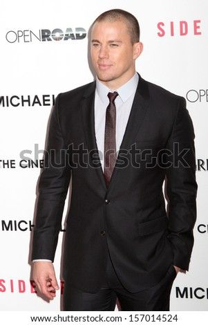 "NEW YORK - JANUARY 31:  Channing Tatum attends the premiere of ""Side Effects"" at AMC Lincoln Square Theater on January 31, 2013 in New York City."