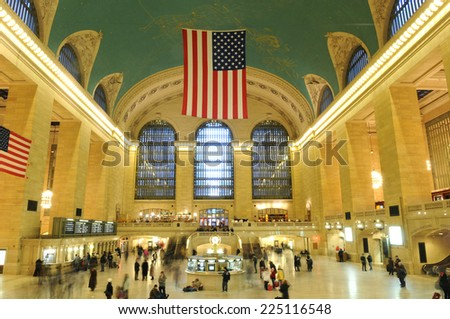 NEW YORK - January 10: Grand Central Station is abuzz with travelers on January 10, 2010 in New York, NY, USA. - stock photo