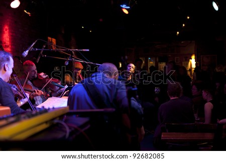 NEW YORK - JANUARY 06: Joel Harrison String Choir performs as part of NYC Winter Jazz Festival at The Bitter End on January 06, 2012 in New York City