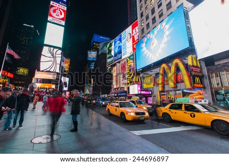 NEW YORK - January 12,2015: New York Times Square.