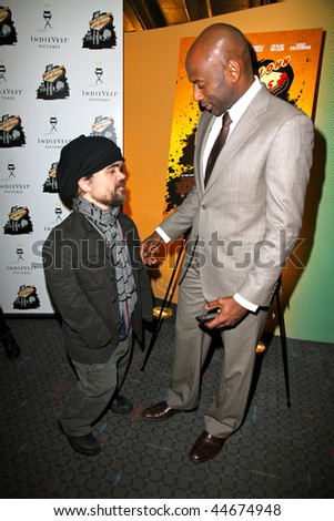 "NEW YORK - JANUARY 16 : Peter Dinklage (L) and Romany Malco attend the ""Saint John Of Las Vegas"" New York Premiere on January 16th, 2010 in NYC"