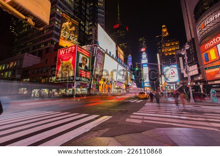 NEW YORK - January 30,2014: Times Square. - stock photo