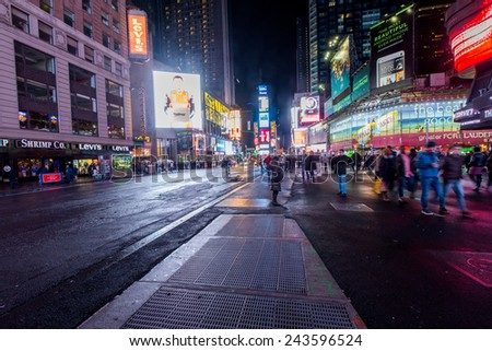 NEW YORK - January 30,2014: Times Square.
