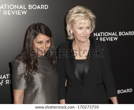 NEW YORK - JANUARY 07: Tina Brown and Haifaa Al-Mansour attend the 2014 National Board Of Review Awards Gala at Cipriani 42nd Street on January 7, 2014 in New York City.