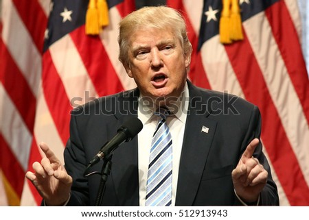 NEW YORK - JUL 16, 2016: Donald Trump speaks during a press conference on July 16, 2016 in New York.