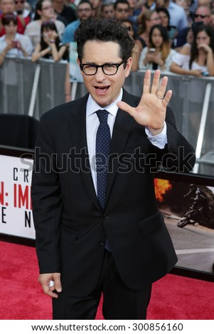 NEW YORK-JUL 27: Producer JJ Abrams attends the US Premiere of 'Mission: Impossible - Rogue Nation' in Times Square on July 27, 2015 in New York City. - stock photo