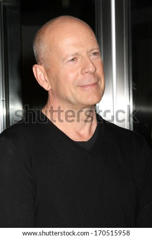 """NEW YORK - JULY 16: Bruce Willis attends a screening of """"Red 2"""" at the Museum of Modern Art on July 16, 2013 in New York City. - stock photo"""