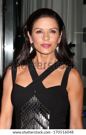 "NEW YORK - JULY 16: Catherine Zeta Jones attends a screening of ""Red 2"" at the Museum of Modern Art on July 16, 2013 in New York City. - stock photo"