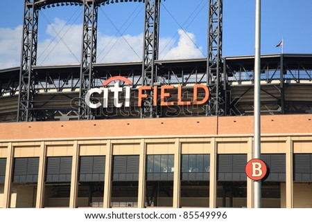 NEW YORK - JULY 15: Citi Field, home of the National League Mets, on July 15, 2011 in New York, NY. Opened in 2009, it seats 41,800 baseball fans and cost $900 million.