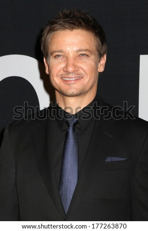 "NEW YORK - July 30, 2012: Jeremy Renner attends the premiere of ""The Bourne Legacy"" at the Ziegfeld Theater on July 30, 2012 in New York City. - stock photo"