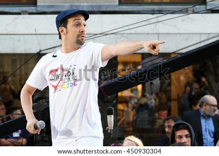 NEW YORK-JULY 11: Lin-Manuel Miranda performs onstage at NBC's Today Show at Rockefeller Plaza on July 11, 2016 in New York City.