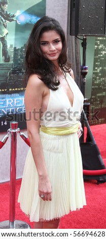 "NEW YORK - JULY 6: Model Shermine Sharivar attends the premiere of ""The Sorcerer's Apprentice"" at the New Amsterdam Theatre on July 6, 2010 in New York City."