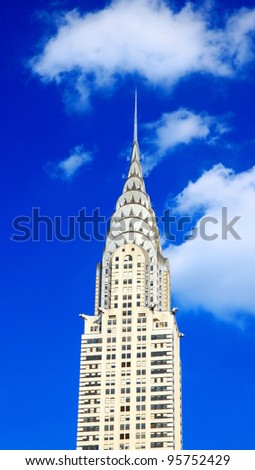 NEW YORK - JULY 17: The Chrysler Building on July 17, 2011 in New York. Standing at 319m it was the world's tallest building for 11 months before it was surpassed by the Empire State Building in 1931. - stock photo