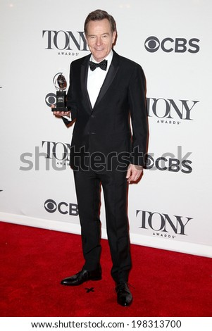 NEW YORK-JUNE 8: Actor Bryan Cranston poses in the press room at the American Theatre Wing's 68th Annual Tony Awards at Radio City Music Hall on June 8, 2014 in New York City. - stock photo