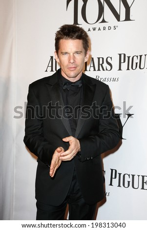 NEW YORK-JUNE 8: Actor Ethan Hawke attends American Theatre Wing's 68th Annual Tony Awards at Radio City Music Hall on June 8, 2014 in New York City. - stock photo