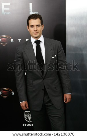 "NEW YORK-JUNE 10: Actor Henry Cavill attends the world premiere of ""Man of Steel"" at Alice Tully Hall at Lincoln Center on June 10, 2013 in New York City.  - stock photo"
