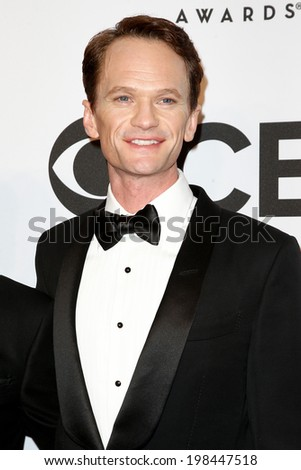 NEW YORK-JUNE 8: Actor Neil Patrick Harris attends American Theatre Wing's 68th Annual Tony Awards at Radio City Music Hall on June 8, 2014 in New York City. - stock photo