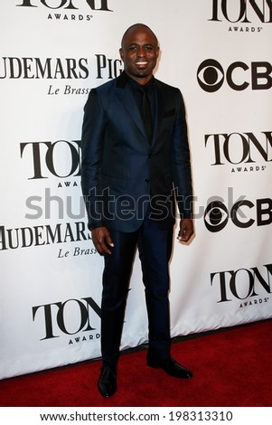 NEW YORK-JUNE 8: Actor Wayne Brady attends American Theatre Wing's 68th Annual Tony Awards at Radio City Music Hall on June 8, 2014 in New York City. - stock photo