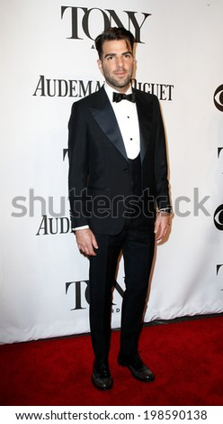 NEW YORK-JUNE 8: Actor Zachary Quinto attends American Theatre Wing's 68th Annual Tony Awards at Radio City Music Hall on June 8, 2014 in New York City. - stock photo