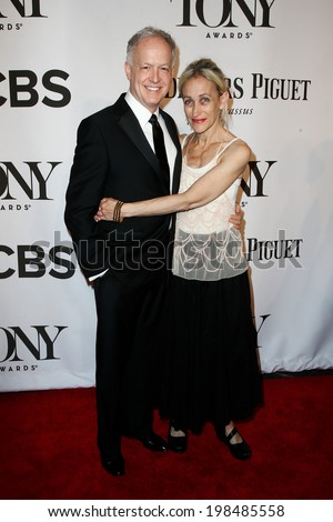 NEW YORK-JUNE 8: Actors Reed Birney (L) and Constance Shulman attend American Theatre Wing's 68th Annual Tony Awards at Radio City Music Hall on June 8, 2014 in New York City. - stock photo