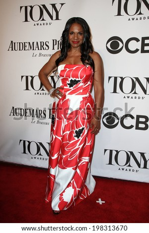 NEW YORK-JUNE 8: Actress Audra McDonald attends American Theatre Wing's 68th Annual Tony Awards at Radio City Music Hall on June 8, 2014 in New York City. - stock photo