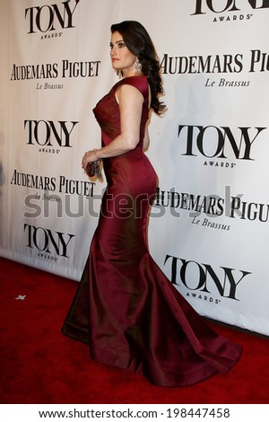 NEW YORK-JUNE 8: Actress Idina Menzel attends American Theatre Wing's 68th Annual Tony Awards at Radio City Music Hall on June 8, 2014 in New York City. - stock photo