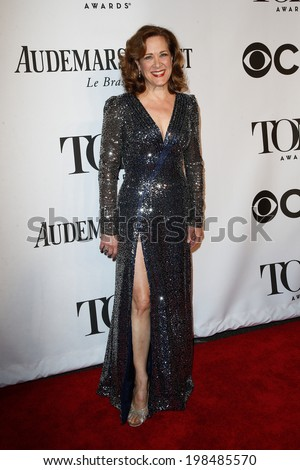 NEW YORK-JUNE 8: Actress Karen Ziemba attends American Theatre Wing's 68th Annual Tony Awards at Radio City Music Hall on June 8, 2014 in New York City. - stock photo