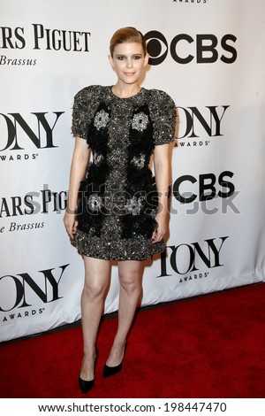 NEW YORK-JUNE 8: Actress Kate Mara attends American Theatre Wing's 68th Annual Tony Awards at Radio City Music Hall on June 8, 2014 in New York City. - stock photo