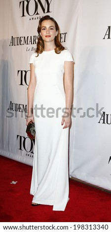 NEW YORK-JUNE 8: Actress Leighton Meester attends American Theatre Wing's 68th Annual Tony Awards at Radio City Music Hall on June 8, 2014 in New York City. - stock photo