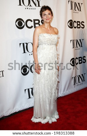 NEW YORK-JUNE 8: Actress Maggie Gyllenhaal attends American Theatre Wing's 68th Annual Tony Awards at Radio City Music Hall on June 8, 2014 in New York City. - stock photo