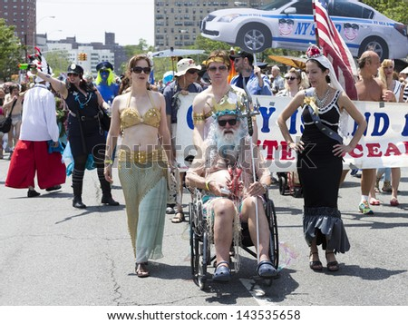 NEW YORK - JUNE 22: Atmosphere during the 2013 Mermaid Parade at Coney Island on June 22, 2013 in Brooklyn, New York