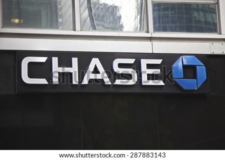 NEW YORK - JUNE 06: Chase Bank branch in New York, United States America. Photo taken on: October 10th, 2014.