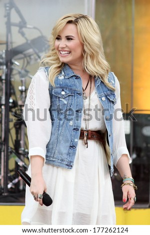NEW YORK - JUNE 28: Demi Lovato performs on 'Good Morning America' in Central Park on June 28, 2013 in New York City.