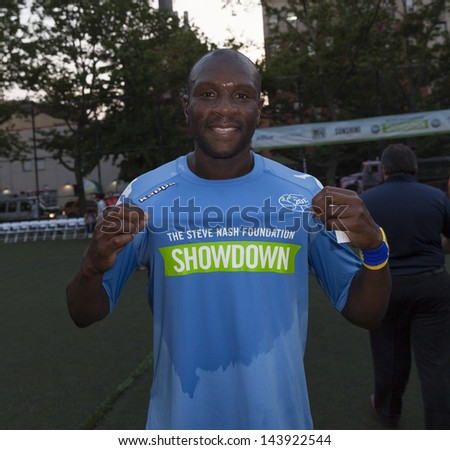 NEW YORK - JUNE 26: Emmerson Boyce attends at The Sixth Steve Nash Foundation Showdown at Sarah D. Roosevelt Park on June 26, 2013 in New York City.