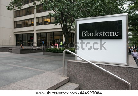 New York, June 27, 2016: Manhattan office location of Blackstone hedge fund.
