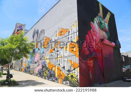 NEW YORK   JUNE 1: Mural Art At East Williamsburg In Brooklyn On June 1 Part 55
